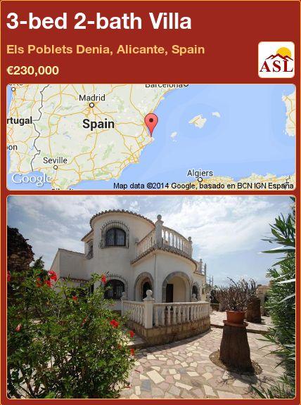 3-bed 2-bath Villa in Els Poblets Denia, Alicante, Spain ►€230,000 #PropertyForSaleInSpain