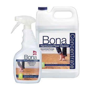 Bona Hardwood Floor Cleaner Concentrate 128 Fl Oz Refill 32 Fl Oz Spray Bottle Hardwood Floor Cleaner Floor Cleaner Hardwood Floors