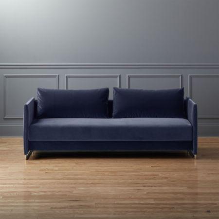 Tandom Microgrid Grey Sleeper Sofa Most Comfortable Sofa Bed