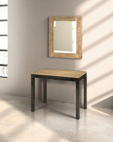 Tavolo Consolle Allungabile Bianco.Consolle Allungabile Rovere E Antracite 90 50 Cm 90 300 Cm