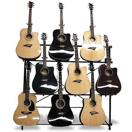 Mirage Agr1009 Display Rack For 9 Acoustic Or Electric Guitars Walmart Com Guitar Display Cool Electric Guitars Guitar Accessories