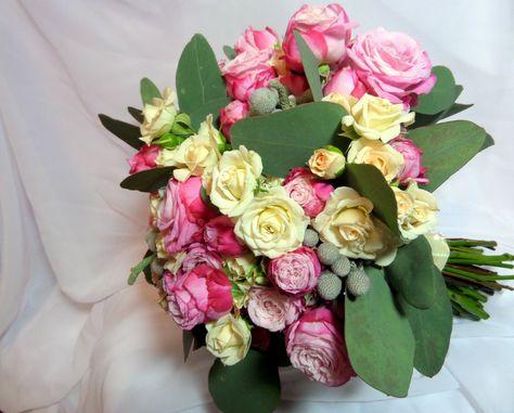 Дублер калл букет из живых цветов на свадьбу
