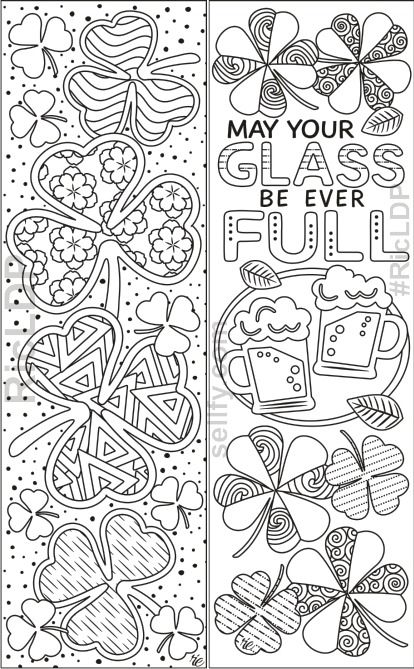 St Patrick S Day Coloring Bookmarks Saint Patricks Day Art St