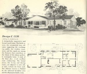 Vintage House Plans 1960s: Ranches and L-Shaped Homes ... on log cabin plan book, chicken coop plan book, ranch house art, ranch house christmas,