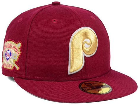 db717c73f19 New Era Philadelphia Phillies Exclusive Gold Patch 59FIFTY Cap
