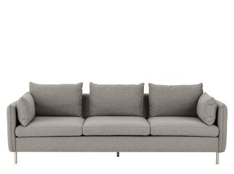 Made Com Canapes 3 Places Gris In 2019 3 Seater Sofa Sofa Gray Sofa