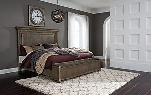 Johnelle King Panel Bed With Storage Bench Ashley Furniture Homestore In 2020 Queen Panel Beds Ashley Bedroom Furniture Sets Bedroom Furniture Sets