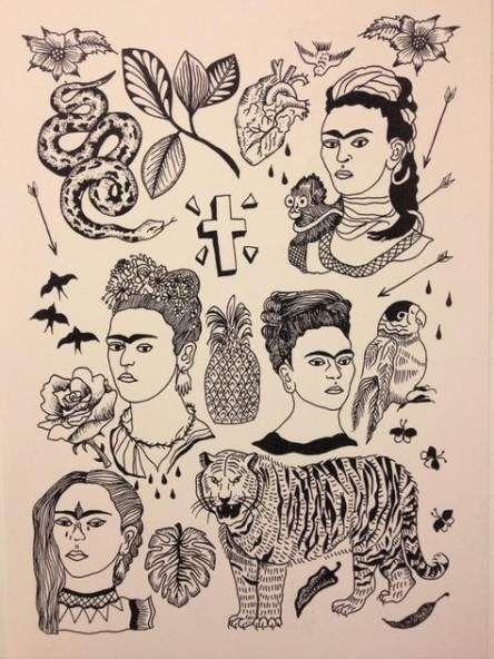 Tattoo Ideas Frida Kahlo 40 Ideas Frida Kahlo Tattoos Frida Tattoo Art