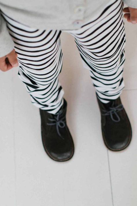 Stripes are always a good idea. Get a playful look by wearing the Knee Patch Jogger from @house