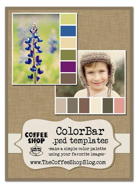 The CoffeeShop Blog: CoffeeShop ColorBar Color Palette Templates!