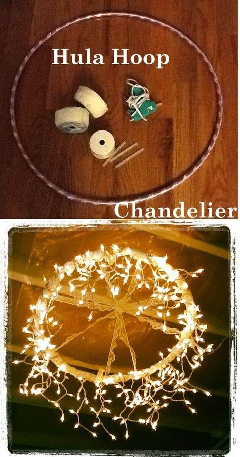 DIY HULA HOOP CHANDELIER || Ishwari Thadhani