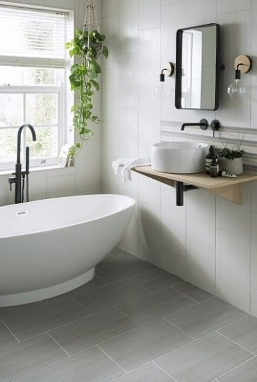 Small Bathroom Flooring Ideas Uk In 2020 Grey Bathroom Floor Topps Tiles Bathroom Wall Tile