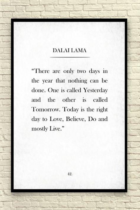 Dalai Lama Print Dalai Lama Quote Custom Art Print Book image 1