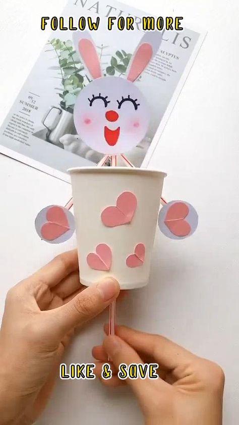 Paper Bunny Craft - simple bunny craft idea