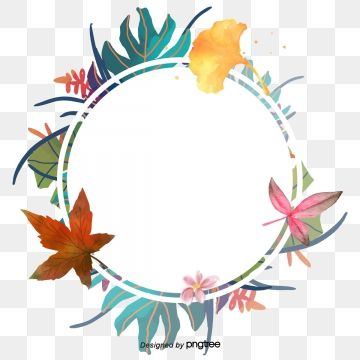 Vector Png Summer Border Summer Flowers Watercolor Flowers Watercolor Border Hand Painted Flowers Wa Floral Wreath Watercolor Flower Border Png Floral Painting