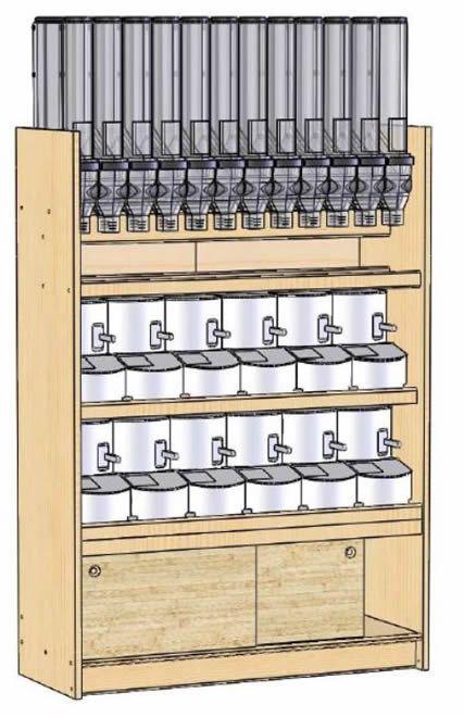 Dispensadores De Venta A Granel Gravity Bins Modelo 0001 Diseño Interior De Tienda Diseño De Despensa Diseño De Supermercado