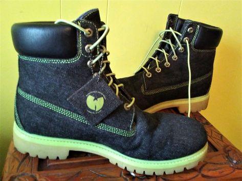 Wu Tang RZA Black Denim Boots