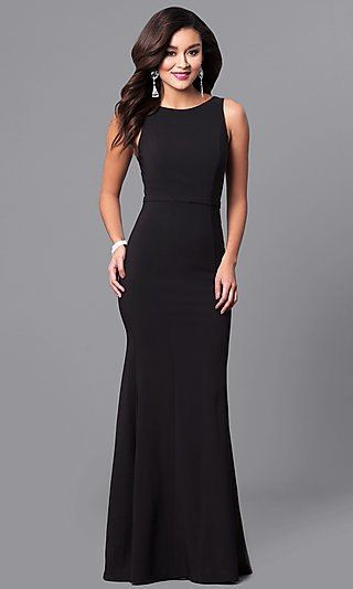 Long Black High Neck Prom Dress With Sequin V Back Long Black Dress Formal Long Black Dress Black Dress Formal