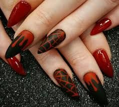 Image result for images of halloween almond shaped drip gel