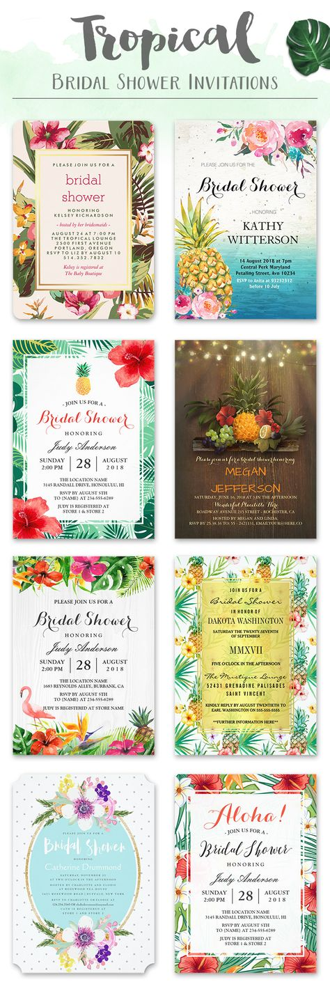 luau wedding invitation templates%0A      best Tropical Wedding Invitations images on Pinterest   Cards  Dinner  ideas and Flower designs