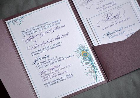 Peacock Themed Pocket Wedding Invitation Je Design Studio Wedding