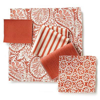Spicy Corals - Dear Mrs. Howard: How To Mix and Match Fabrics - Southern Living