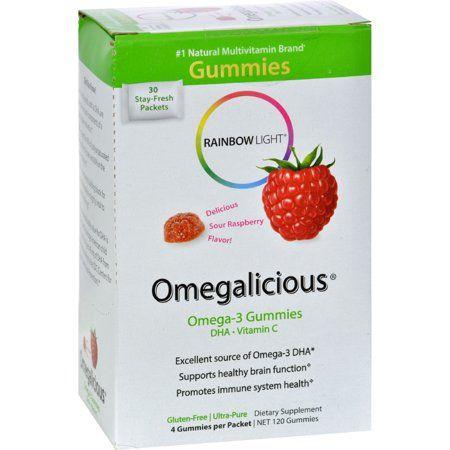 Rainbow Light Omegaliciousa Omega 3 Gummies 30 Pk Box Multicolor Rainbow Light Natural Multivitamin Healthy Brain Function