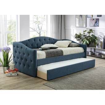Ghislain Twin Daybed With Trundle In 2020 Daybed With Trundle Twin Daybed With Trundle Daybed