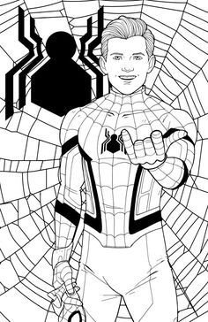 Spiderman Coloring Pages Easy Coloringpages Coloringpagesfree Coloringpageschildren Spiderman Coloring Avengers Coloring Pages Avengers Coloring