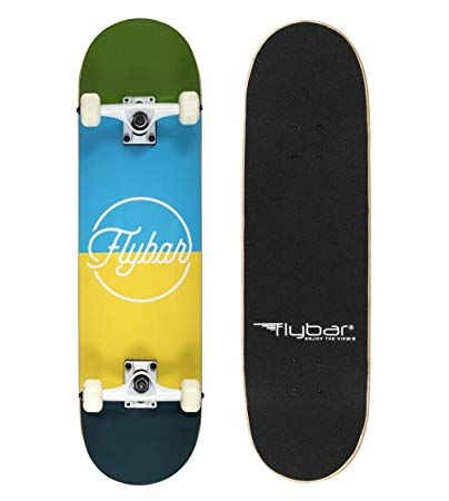 Flybar 31 X 8 Complete Beginner Skateboards 7 Ply Maple Wood Board Pre Built 7 Designs Available Review Kicks Skateboard Beginner Skateboard