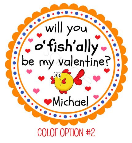 Will You o\'fish\'ally ?? Color Option #2 Valentine\'s Day personalized ...