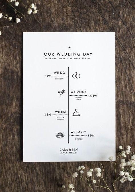 groß Bearbeitbares Hochzeitsprogramm – Rustikale Minimalistische Hochzeit – DIY Hochzeitsprogramm - #Bearbeitbares #diy #groß #Hochzeit #Hochzeitsprogramm #Minimalistische #Rustikale