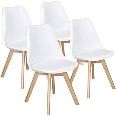 Amazon Com Yaheetech Dining Chairs Dsw Chair Shell Lounge Pu Side