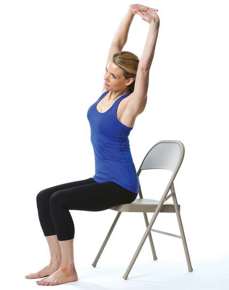 De Stress Instantly With This Easy Chair Yoga Flow Yoga Balance Poses Yoga Postures Chair Pose Yoga