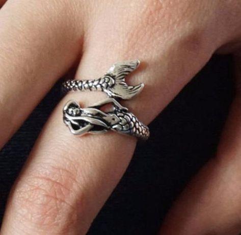 Mermaid ring,mermaid jewelry,personalized mermaid ring,jewelry for her,gift for her,sea jewelry,mermaid and tail ring, Christmas gift