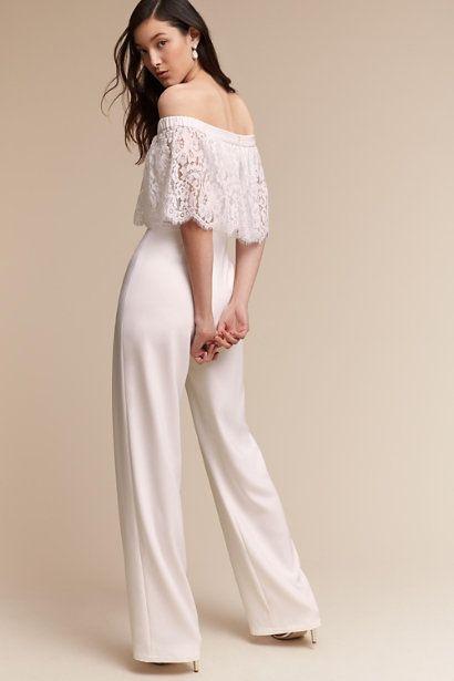 76ece92eff02 BHLDN Mila Jumpsuit Sz 4 Theia Blush Pink Lace Wedding Bridal Cocktail NWT   280