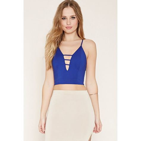 Forever 21 Women s Ladder-Cutout Crop Top ( 15) ❤ liked on Polyvore  featuring tops 8abf5fd57
