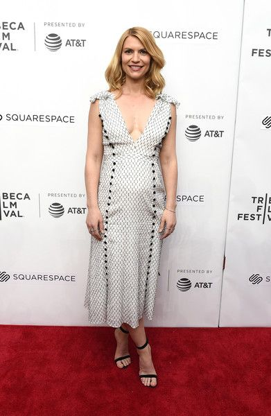 Actress Claire Danes attends Director's Series: Lesli Linka Glatter during the 2018 Tribeca Film Festival.