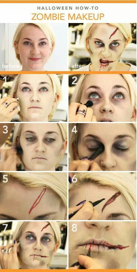 Zombie makeup tutorials.