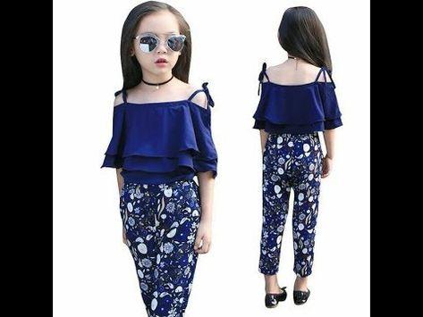 اوف شولدر وبنطلون للاطفال رائع فرحى بنوتك واعملى لبس العيد Youtube Girls Clothing Sets Girls Winter Fashion Kids Fashion Girl