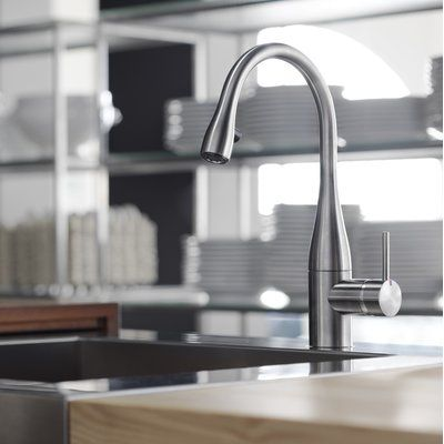 Kwc Eve Pull Down Single Handle Kitchen Faucet With Luminaqua Led