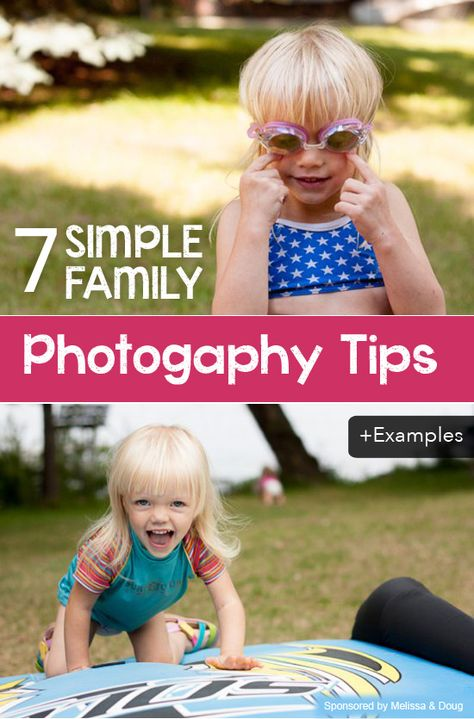 7 Family Photography Tips -- Great collection of examples.