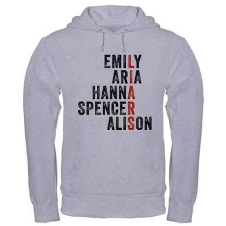 Emily Aria Hanna Standard College Hoodie Comfortable Pretty Little Liars