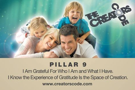 WIN The Resolution Course in Edmonton Jan. 24-26 + $250 GC for The Creator's Code, value of $1147 Contest #3 runs Dec. 24-27 1-Go to The Creator's Code FB page. Share the contest #3 photo on your wall. Write about an area of your life that you are grateful for who you are and what you are capable of. 2-On your Twitter, share as above. you must write #creatorscode. 3-Go to our Youtube channel and subscribe, click on the Pillar#9 Video. write as above. 4-Pinterest. Repin this post and share.