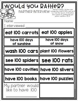 100th Day Kindergarten First Grade Math Writing Science Ac Math Writing 100 Day Of School Project First Grade Math