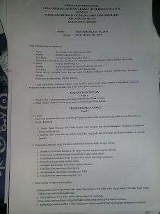 Contoh Surat Perjanjian Kerjasama Pelayanan Kesehatan Antara Puskesmas Dan Sekolah Madrasah Surat Belajar Sekolah