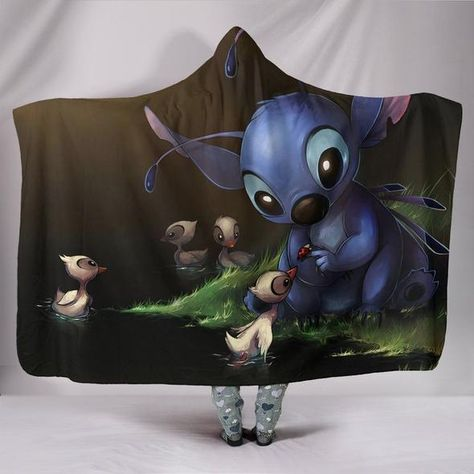 Lilo And Stitch Hooded Blanket V5 | Lilo, stitch blanket