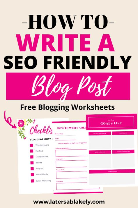 How To Write A SEO Friendly Blog Post | LaTersa~The Mommy Maven %