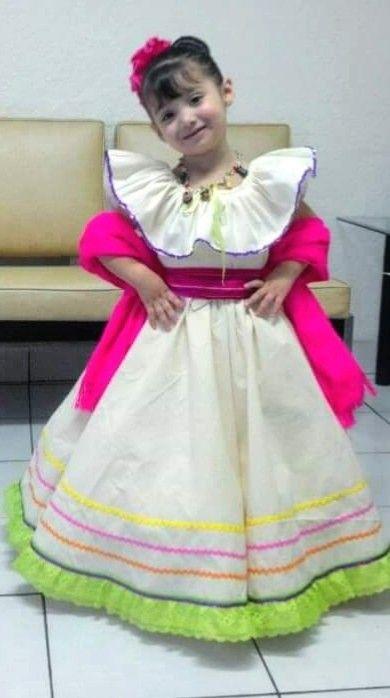 Vestuario Mexicano En Manta Traje Típico Vestidos Para