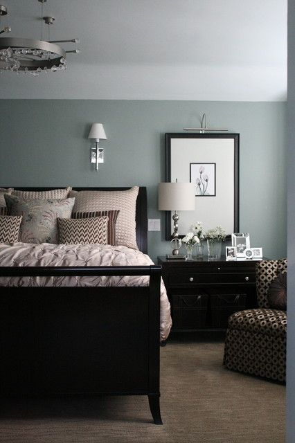 I love the black and dove grey/duck egg blue combo. Kind of masculine but also dreamy.